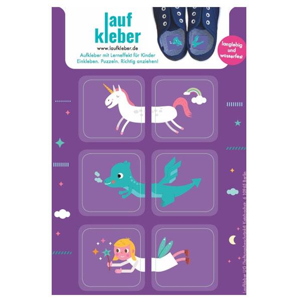 Laufkleber – Schuhe anziehen leicht gemacht | Fabelwesen