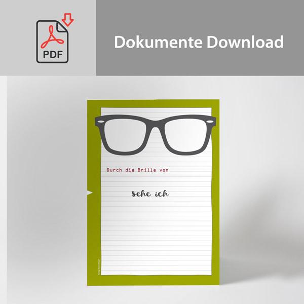Arbeitsblatt Download | Durch die Brille von… sehe ich: